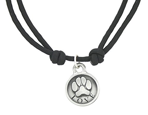 Zelda's Song Love Paw Rope Necklace, Black by Zelda's Song