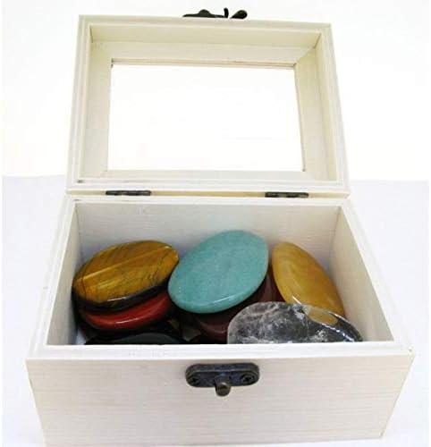 Caja de Madera Guarda Palo Santo 12x9 cm Minerales y Cristales, Belleza energética, Meditacion, Amuletos Espirituales: Amazon.es: Hogar