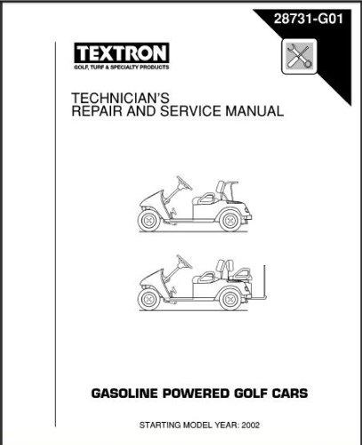 amazon com ezgo 28731g01 2002 2006 technician s repair and service rh amazon com ez go manual 2001 ezgo manuals pdf