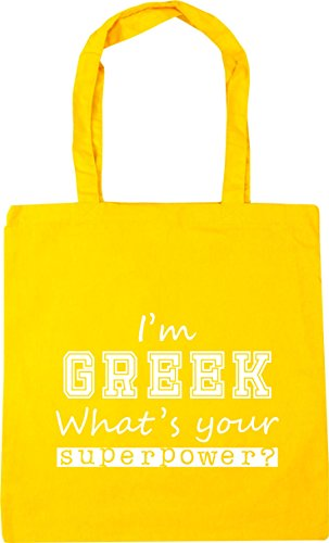 What's 42cm Bag 10 Yellow Beach Your Greek HippoWarehouse Superpower Tote Shopping litres x38cm I'm Gym aTvExq4