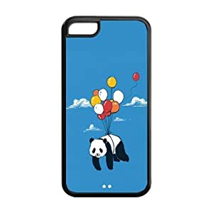 Fashion Animal Printed Protector Cute Panda Snap On Cover Case For iPhone 5c