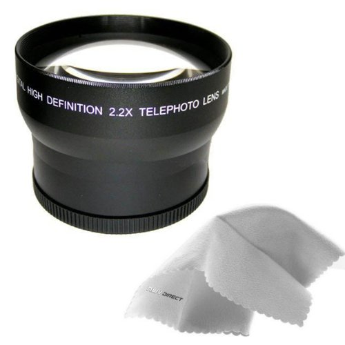 Sony HVR-Z5U 2.2x High Definition Telephoto Lens (72mm) Made By Optics + Nwv Direct Micro Fiber Cleaning Cloth by Digital Nc