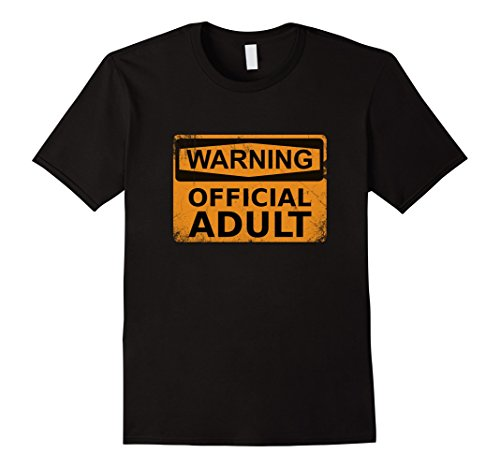Men's Official Adult T-Shirt Funny 18th Birthday Gifts Large Black