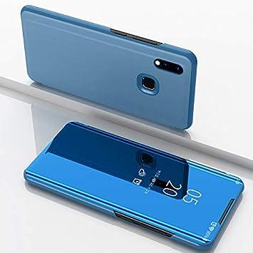 Funda Xiaomi Redmi Note 7 Fundas de Espejo Elegante Carcasa de Función Inteligente para Dormir/Despertar,Vista Inteligente Cover Carcasa Funda Case ...