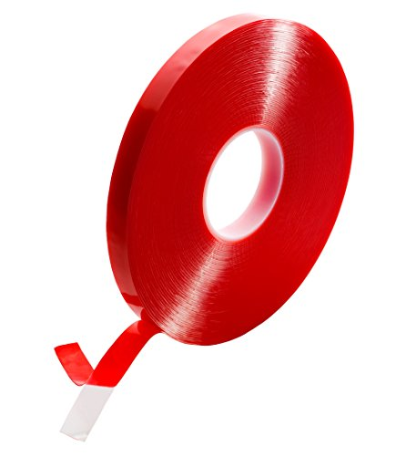 (T.R.U. FA-UHB10C Double Coated Acrylic Foam Tape Clear. 36 Yds Length. Available In Multiple Sizes. (1/4