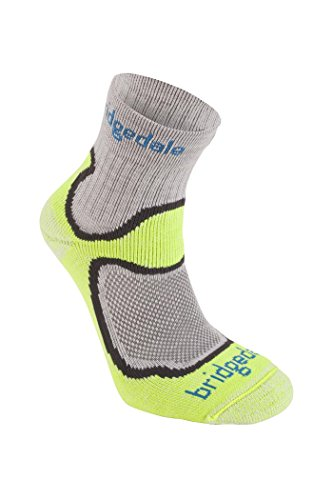 Bridgedale Men's Coolfusion Run Speed Trail Socks, Lime, Medium ()