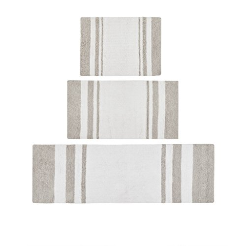 (Madison Park MP72-1486 Bath Rug, 20x30, Taupe)