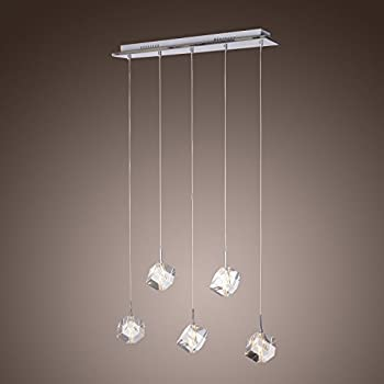 LightInTheBox K9 Crystal Bar Pendant Light with 5 Lights Island Ceiling Light Fixture with Bulb : bar pendant lights - azcodes.com