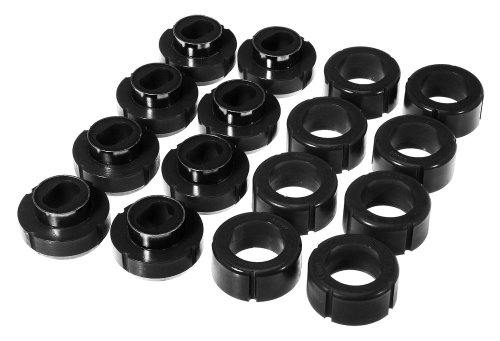 Prothane 7-111-BL Black Body and Crew Cab Mount Bushing Kit - 16 Piece (7 16 Bushing compare prices)