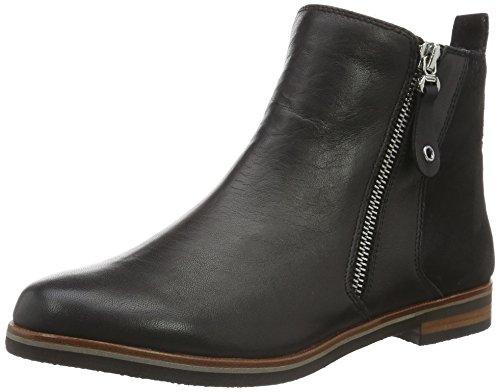 Caprice 25300 - botas de cuero mujer Negro - Schwarz (BLK/BLK SUEDE 21)