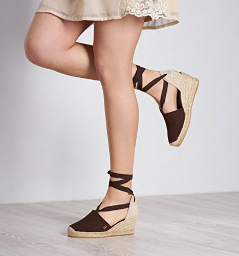 Toe Heel Classic Espadrilles Closed Heel 2 tie In Soft 5