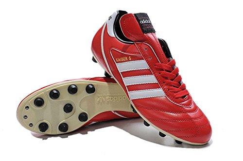 yurmery Schuhe Herren Fußball Soccer Kaiser 5Liga FG rot Stiefel
