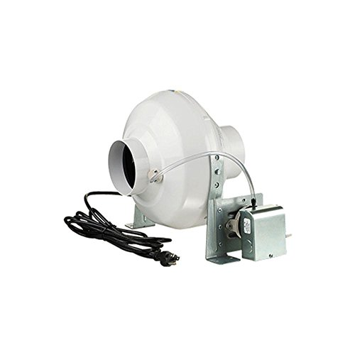 (Ventamatic VK PS 100 Plastic Inline Dryer Booster Centrifugal Fan with Pressure Switch, 162 CFM, 4-Inch, 4