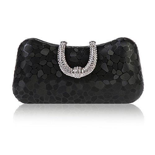 Flakes Black Bag Hardcase Patterned Metallic Damara Luxury Womens Evening IqCww8Zx