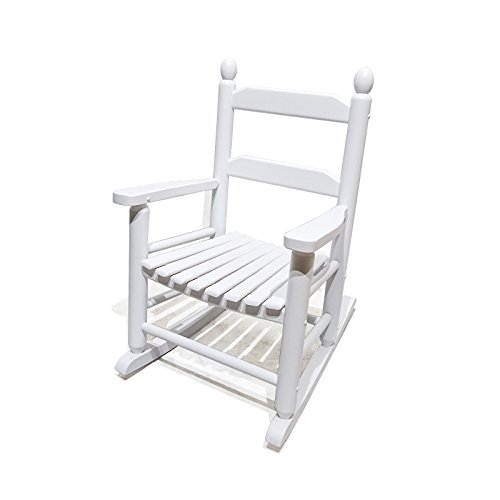 (ORNO TTOBE Classic Child's Wood Rocking Chair for Age 1-8, White)