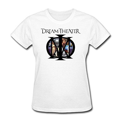 RZF Women's Dream Theater Album Logo T-Shirt-L White ()