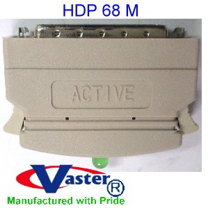 SCSI External Terminator, HPDB68 Male, External Terminator One End, Active, with LED by VasterCable