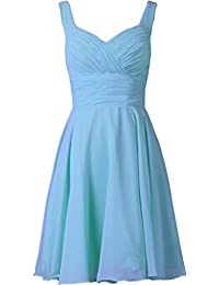 CaliaDress Women Strap A Line Short Bridesmaid Dress Prom Party Gowns C283LF