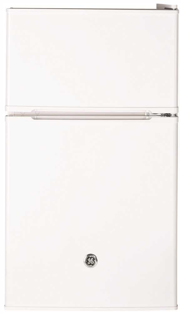 Ge REFRIGERATORS 1029598  3.1 Cu. ft. Double-Door Compact Refrigerator, White, Reversible Door Swing
