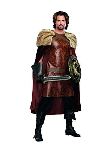 [Dreamgirl Men's Dragon Warrior King, Brown, Large] (Dragon Warrior King Adult Mens Costumes)