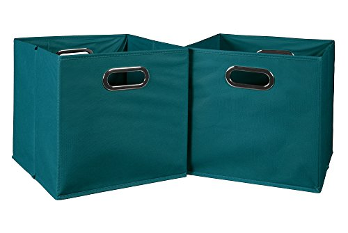 Cubo Foldable Fabric Bins Teal product image