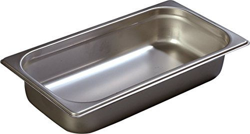 Carlisle Heavy Gauge - Carlisle 608132 DuraPan Heavy 22-Gauge 18-8 Stainless Steel Third-Size Food Pan, 3.4 qt. Capacity, 6-7/8 x 12-3/4 x 2-1/2