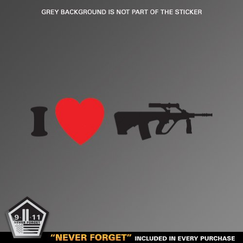 I Love my Aug - A1 Steyr - Sticker - Decal - Die Cut Vinyl