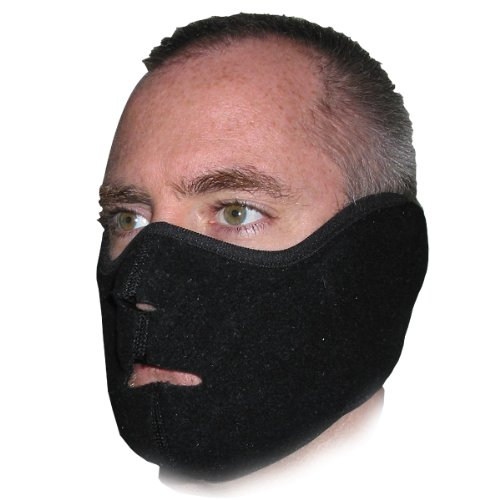 Heat Factory Fleece Face Mask for use with Hand Heat Warmers, Black