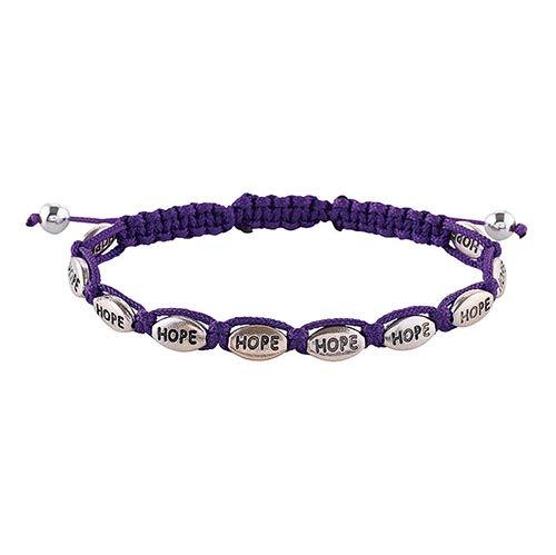 US Gifts Word Braid Bracelets Display - 48pk