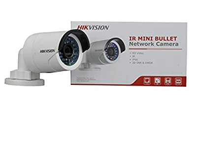 Hikvision DS-2CD2042WD-I (4MM) Outdoor Mini Bullet Camera, 4MP, H.264, Day/Night, Wide Dynamic Range, IR to 30M, POE/12VDC, 4 mm Lens by Hikvision USA