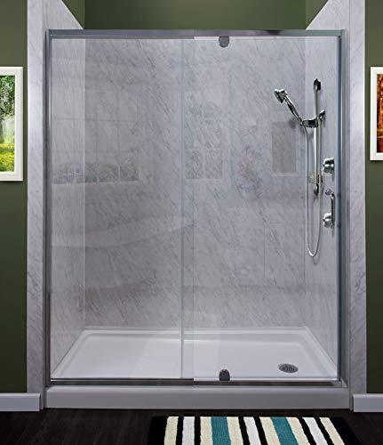 Framed Pivot Shower Doors.Miseno Msdc4269 Sv Purify 69 High X 42 Wide Semi Framed Pivot Shower Door With Clear Glass And H2off Technology