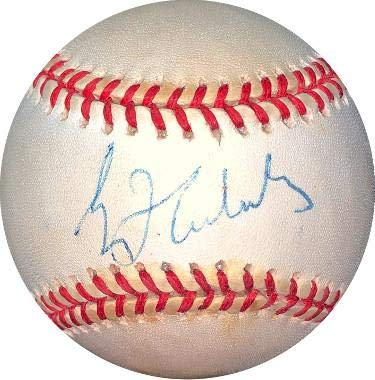 (Greg Maddux Autographed Ball - RONL Rawlings Official National League toned Hologram #EE41823 Cubs) - JSA Certified)