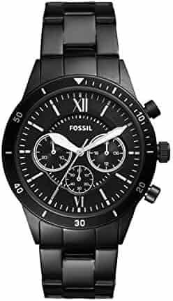 Fossil Men's Flynn Sport Chronograph Black Stainless Steel Watch BQ2227