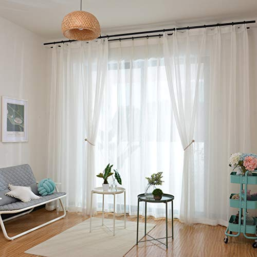 AMAZDN Curtain Tiebacks Magnetic Curtain Holdbacks for Draperies,Sheer Panels and Blackout Without Drilling 1 Pair (Dark Coffee) by AMAZDN (Image #4)