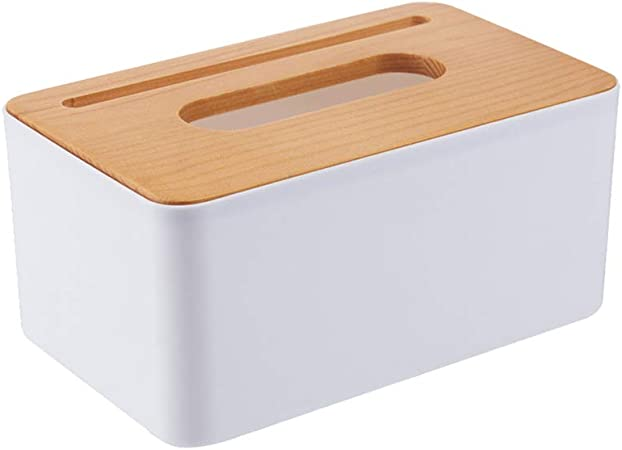 HJKGSVdv - Caja de pañuelos Rectangular de Madera para salón, Papel, Bombeo, teléfono móvil, Tarjeta, Caja de pañuelos Creativa, servilletero de Oficina: Amazon.es: Hogar