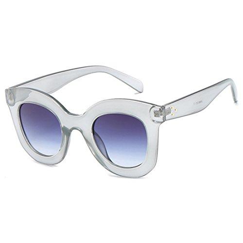 de Mujeres vintage de sol de Gris estilo gato Gafas retro gran Aiweijia Mujeres Gris de Marco sol tamaño de de ojo Gafas Gafas Gafas n8f5zwxO
