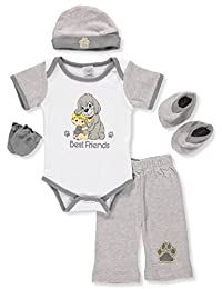 Precious Moments Baby Boys' 5-Piece Layette Gift Set