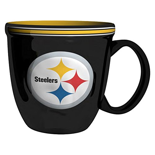 NFL Pittsburgh Steelers Bistro Mug, 15-ounce, (Nfl Pittsburgh Steelers Coffee Mug)