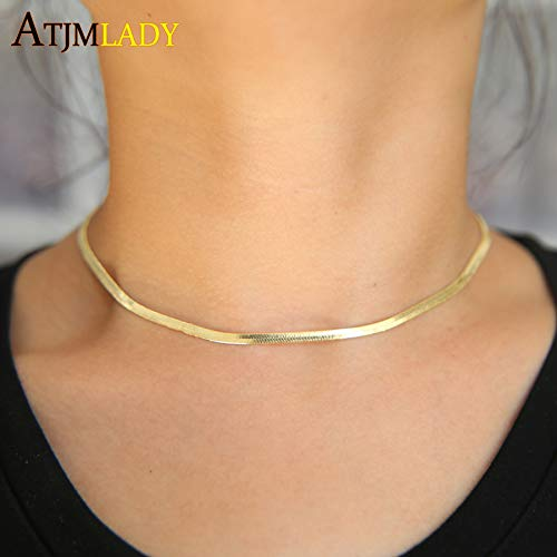 New Copper Maxi Necklaces, Collares | 30+8cm Sparking Extend Simple Chokers, Necklaces