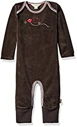 Burt\'s Bees Baby Organic Convertible Foot Coverall, Ash Cozy Bee, 3-6 Months