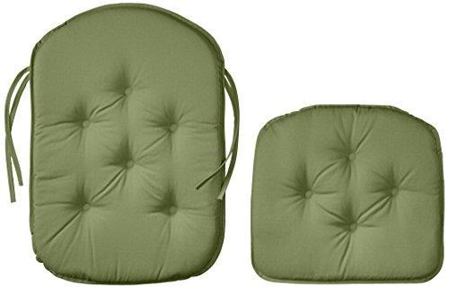 Klear Vu Gripper DelightFill Twill Non-Slip Rocking Chair Pad Seat and Seatback Cushion Set, Majestic