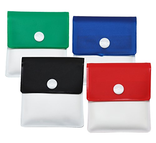 (Meta-U Pocket Ashtray Pouch- Fireproof PVC-Odor Free-Portable Compact- Assorted Color- Pack of 4)
