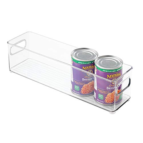 (InterDesign 70430 Plastic Refrigerator and Freezer Storage Bin, BPA-Free Organizer for Kitchen, Garage, Basement, 14.5