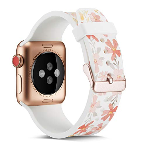 (for Apple Watch Band 38mm/40mm,Fashion Pattern Designs Smartwatch Silicone Bands for Womens Men/Wristbands for iWatch Series 4&3&2&1)