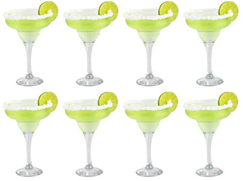 Epure Firenze Collection 8 Piece Margarita Glass Set – Classic For Drinking Margaritas, Pina Coladas, Daiquiris, and…