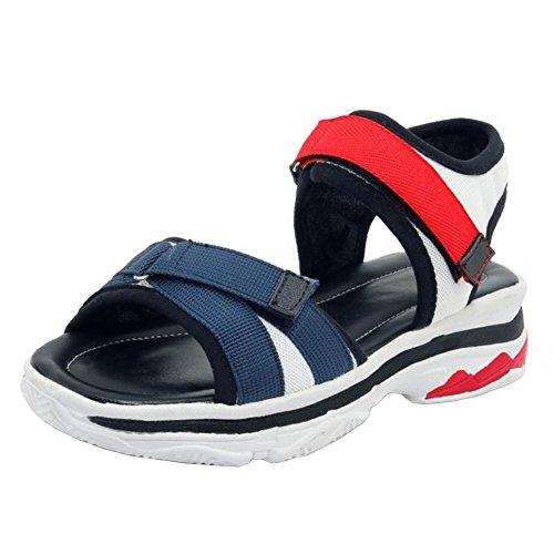 Stratch Chaussures Compensées 4 TAOFFEN Femmes Sandales White wSFZ80q