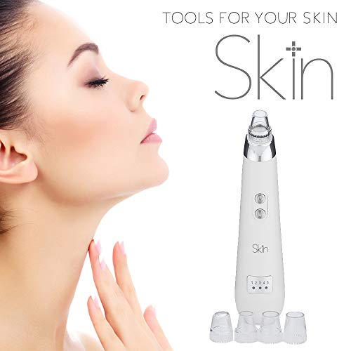 Pore Cleaner Blackhead Remover Vacuum - Premium Dermatologist Quality Pore Vacuum & Blackhead Remover Tool For Clogged Pores, Blemishes, Wrinkles & More. 4X Gentle Glide Tips & 5X Speeds For All Skin