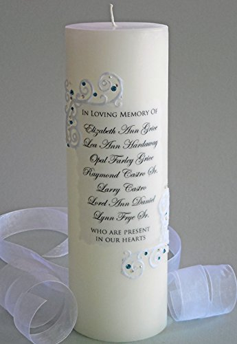Piazza Lace 9 Name Personalized 3x9 Memorial Candle