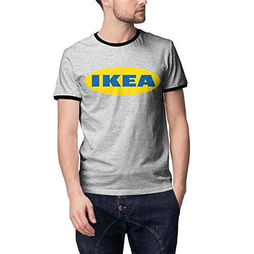 UONDLWHER Men's Round Neck Grey Fitted T Shirts