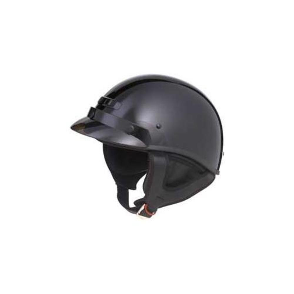 GMax GM35 Solid Fully Dressed Black Half Helmet - X-Small